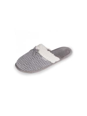 Тапочки Isotoner. Цвет: серый