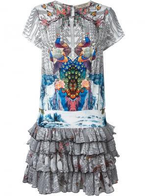 Платье с оборками Piccione.Piccione. Цвет: многоцветный