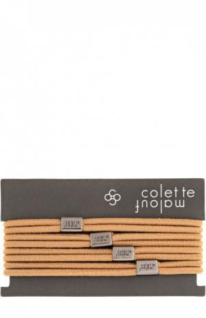 Набор резинок для волос Colette Malouf. Цвет: бежевый