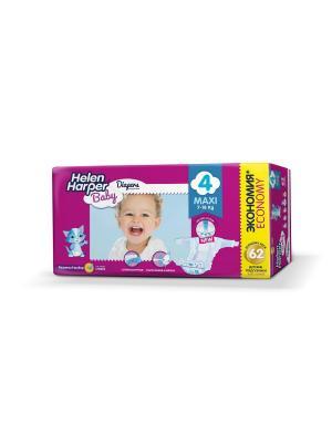Helen HARPER Подгузники детские Baby Maxi 7-18 кг 62шт. Цвет: темно-фиолетовый