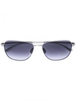Солнцезащитные очки-авиаторы Masunaga. Цвет: металлический