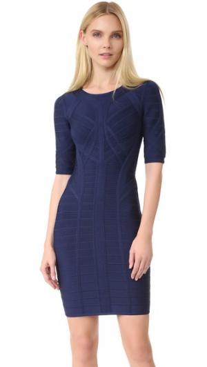 Платье Helena Herve Leger. Цвет: классический синий