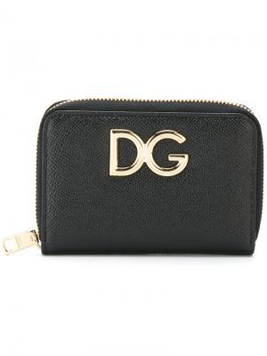 Кошелек с логотипом Dolce & Gabbana. Цвет: чёрный