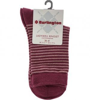 Бордовые носки в полоску Burlington. Цвет: полоска