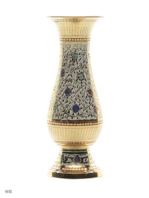 Ваза стакан латунь белая эмаль ETHNIC CHIC. Цвет: золотистый, светло-коралловый, бежевый