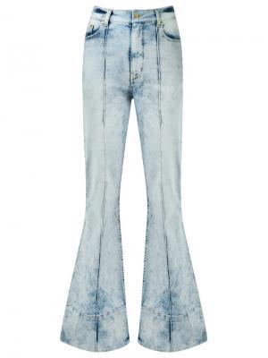 Расклешенные брюки с завышенной талией Amapô. Цвет: синий