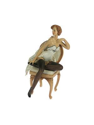 Статуэтка Девушка Пин-ап Русские подарки. Цвет: белый, кремовый