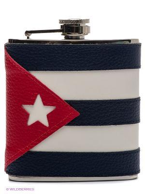Фляга с флагом Куба Экспедиция. Цвет: белый, синий
