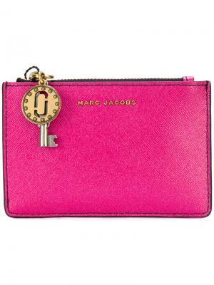 Кошелек с подвеской в форме ключа Marc Jacobs. Цвет: розовый и фиолетовый