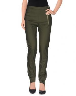 Повседневные брюки MR & MRS Italy. Цвет: зеленый-милитари