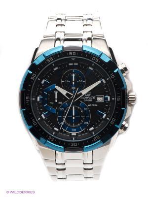 Часы EDIFICE EFR-539D-1A2 CASIO. Цвет: синий, серебристый