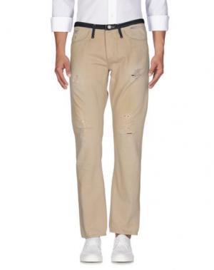 Джинсовые брюки (+) PEOPLE. Цвет: бежевый