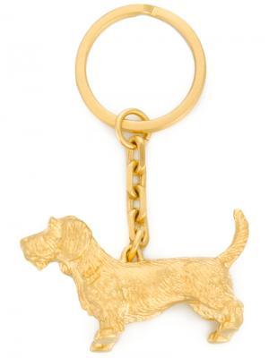 Брелок с подвеской-собакой Thom Browne. Цвет: металлический