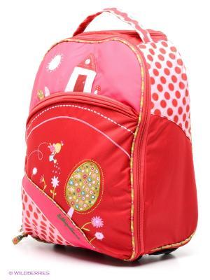 Божья коровка Лиза: чемодан на колесиках Lilliputiens. Цвет: розовый, малиновый