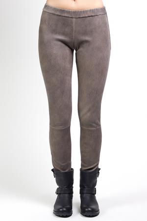 Кожаные штаны Giorgio. Цвет: beige