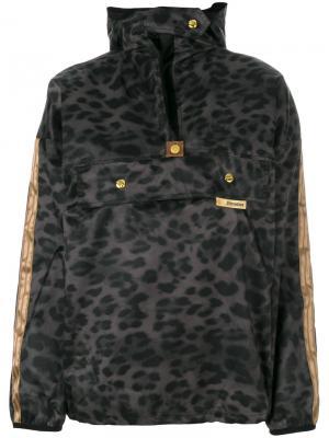 Ветровка с капюшоном леопардовым узором Astrid Andersen. Цвет: зелёный