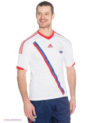 Футболка Adidas. Цвет: красный, белый, синий
