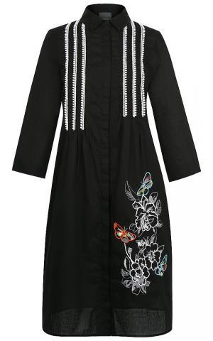 Платье-рубашка с вышивкой Persona