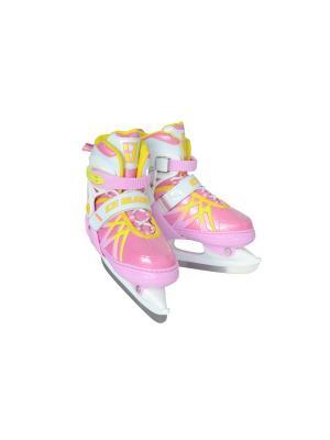 Коньки раздвижные ICE BLADE Taffy 1/6. Цвет: розовый