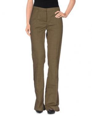 Повседневные брюки MAURIZIO PECORARO. Цвет: зеленый-милитари