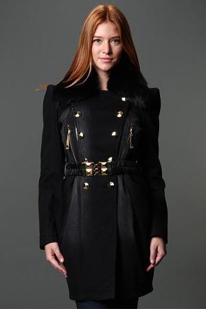 Пальто Gizia. Цвет: черный