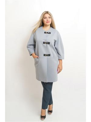 Пальто BALSAKO. Цвет: серый