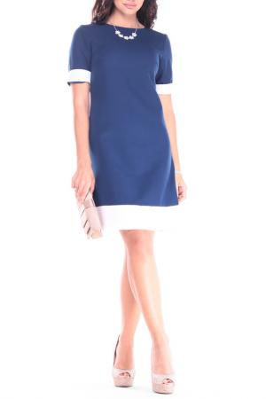 Платье REBECCA TATTI. Цвет: синий, молочный