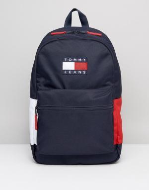 Tommy Jeans Нейлоновый рюкзак. Цвет: темно-синий