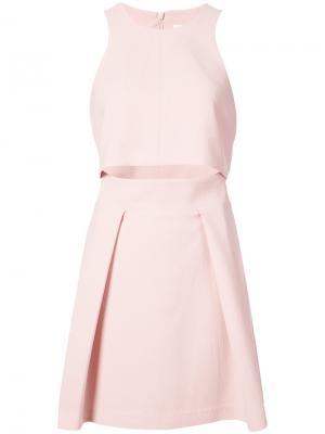 Flared mini dress Black Halo. Цвет: розовый и фиолетовый