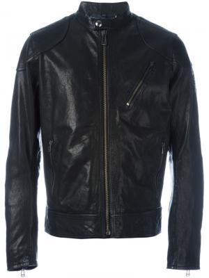 Классическая куртка на молнии Belstaff. Цвет: чёрный