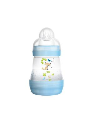 Бутылочка для кормления MAM Anti-Colic, 160 мл + Соска  2 шт. от 2М+ в подарок. Цвет: синий