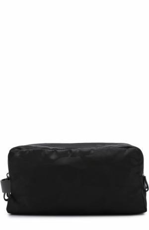 Текстильный несессер с двумя отделениями на молнии Valentino. Цвет: черный