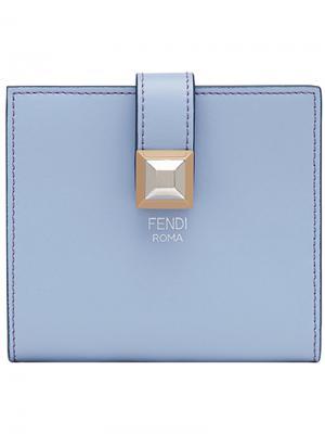 Визитница с застежкой на кнопку Fendi. Цвет: синий