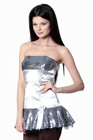 Платье Diva. Цвет: серебряный
