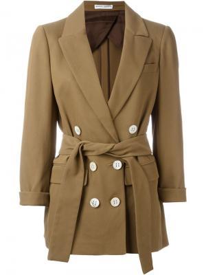 Пиджак с поясом Barbara Casasola. Цвет: коричневый