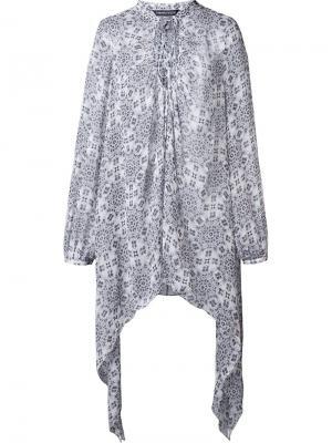 Шелковая блузка Pris Thomas Wylde. Цвет: белый