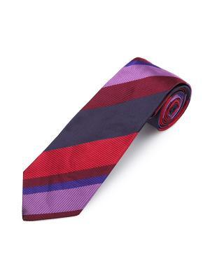 Галстук Sloe Wide Stripe Duchamp. Цвет: индиго, бордовый, сиреневый, сливовый, фиолетовый