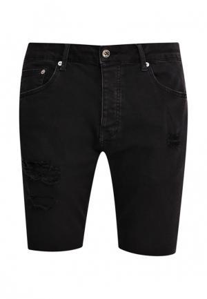Шорты джинсовые Topman. Цвет: черный