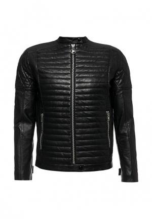 Куртка кожаная Ice Play. Цвет: черный