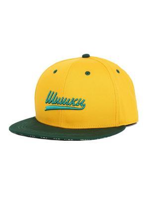 Бейсболка Shishki Запорожец. Цвет: зеленый, желтый