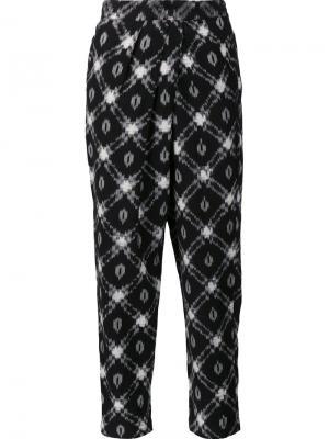 Укороченные брюки с принтом Masscob. Цвет: чёрный