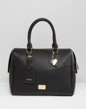 Marc B Классическая сумка-боулер. Цвет: черный