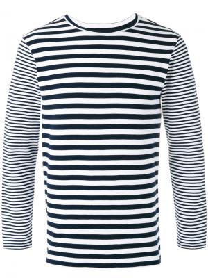 Striped T-shirt Blue Japan. Цвет: синий