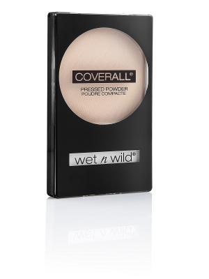 Компактная пудра для лица coverall pressed powder, Тон E825B Wet n Wild. Цвет: бежевый