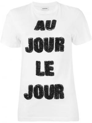 Футболка с логотипом Au Jour Le. Цвет: белый
