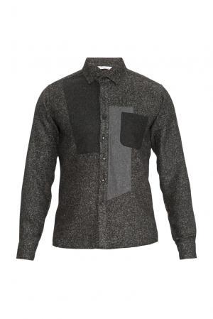 J2nd Рубашка из шерсти с хлопком 159311 J'2nd. Цвет: черный