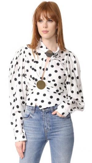 Блуза в горошек Jacquemus. Цвет: белый/черный в крапинку