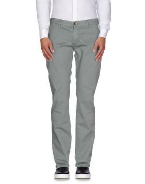 Повседневные брюки RE-HASH. Цвет: серый