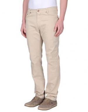 Повседневные брюки B SETTECENTO. Цвет: бежевый