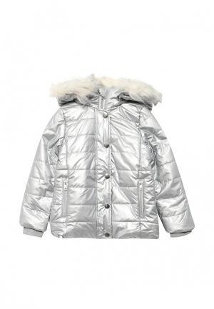 Куртка утепленная Modis. Цвет: серебряный